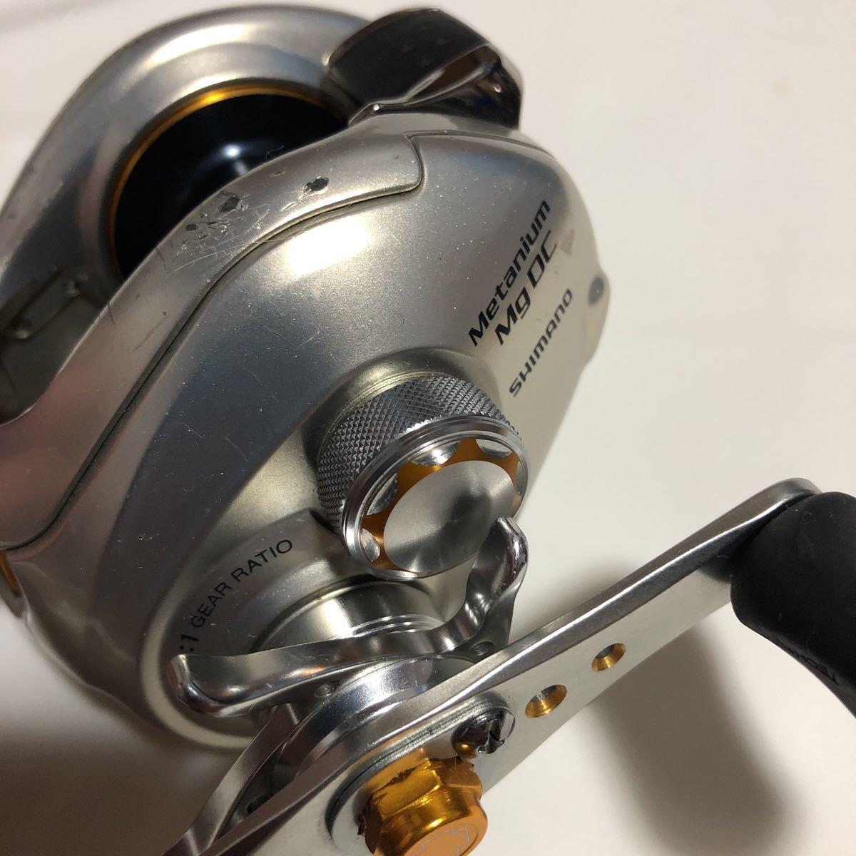 ★動作良好★ シマノ SHIMANO メタニウム mg metanium DC 左ハンドル left handle バス釣り bass fishing_画像4