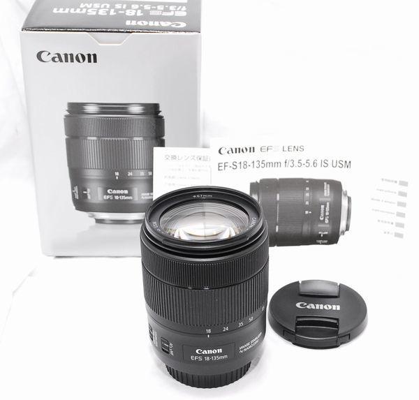 【新品同様の超美品・メーカー保証書 付属品完備】Canon キヤノン EF-S 18-135mm F3.5-5.6 IS USM