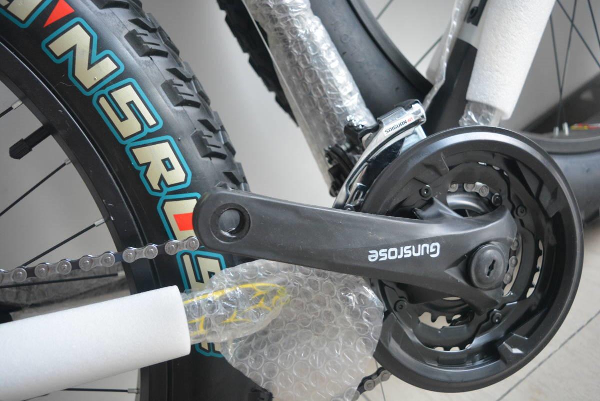 ★限量版★新品 マウンテンバイク 26インチ 24段変速 通勤 通学 自転車 前後ディスクブレーB34J350 _画像8