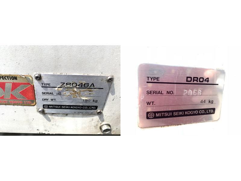 【難あり】 【兵庫発】 【三井精機】 5馬力 60Hz スクロール エア コンプレッサー ZS046A スクリューコンプレッサー MITSUI SEIKI ZS-046A_画像8