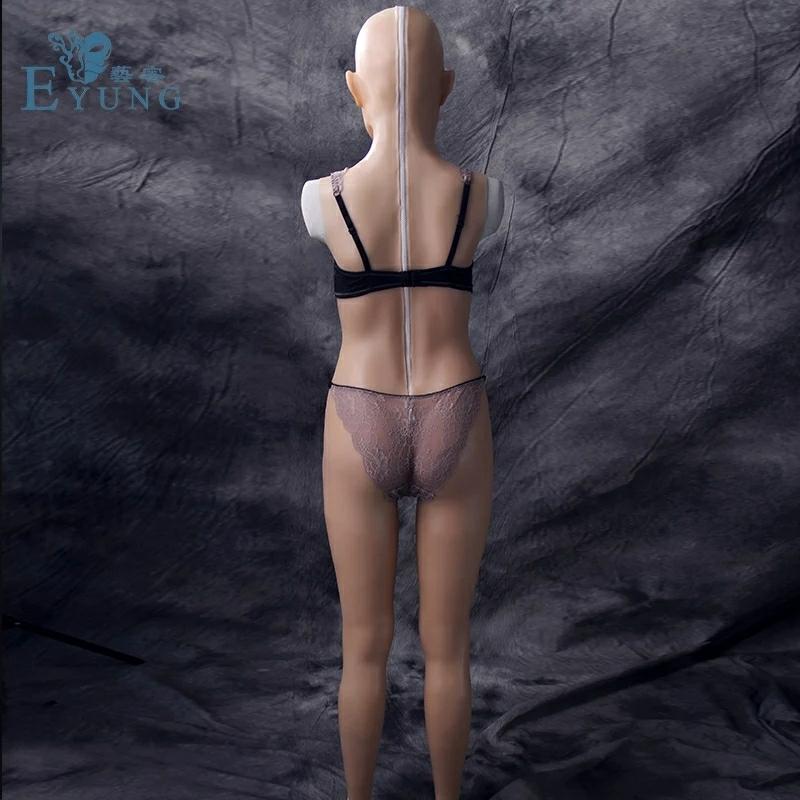 【即納品】 シリコン ラバー リアル フィメールマスク ボディースーツ female mask body suits シリコンバスト 人口乳房 コスプレ衣装 女性_画像4