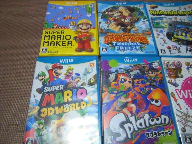 1円スタート【送料無料】WiiU Wii ソフト 13枚セット(ジャンク品)マリオカート スプラトゥーン ドンキーコング_画像2