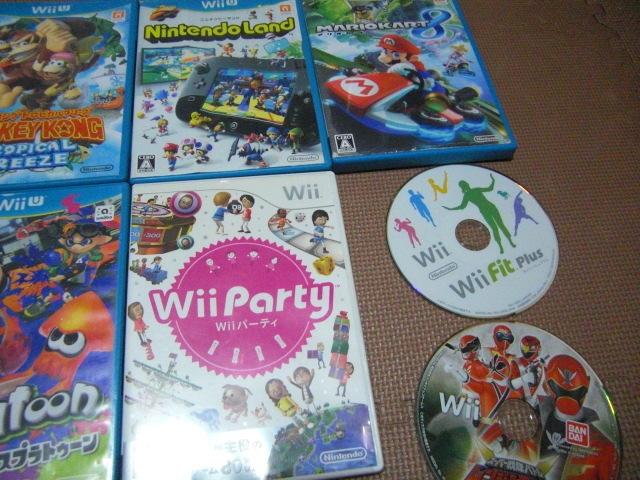 1円スタート【送料無料】WiiU Wii ソフト 13枚セット(ジャンク品)マリオカート スプラトゥーン ドンキーコング_画像3
