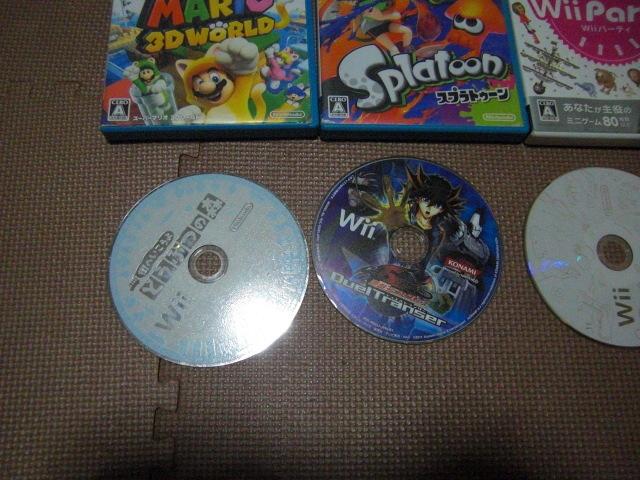 1円スタート【送料無料】WiiU Wii ソフト 13枚セット(ジャンク品)マリオカート スプラトゥーン ドンキーコング_画像4