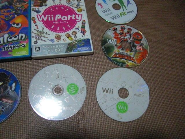 1円スタート【送料無料】WiiU Wii ソフト 13枚セット(ジャンク品)マリオカート スプラトゥーン ドンキーコング_画像5