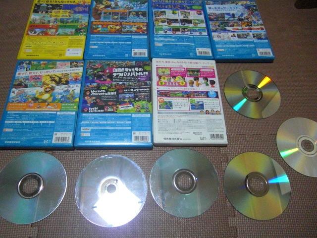 1円スタート【送料無料】WiiU Wii ソフト 13枚セット(ジャンク品)マリオカート スプラトゥーン ドンキーコング_画像6