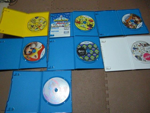 1円スタート【送料無料】WiiU Wii ソフト 13枚セット(ジャンク品)マリオカート スプラトゥーン ドンキーコング_画像7