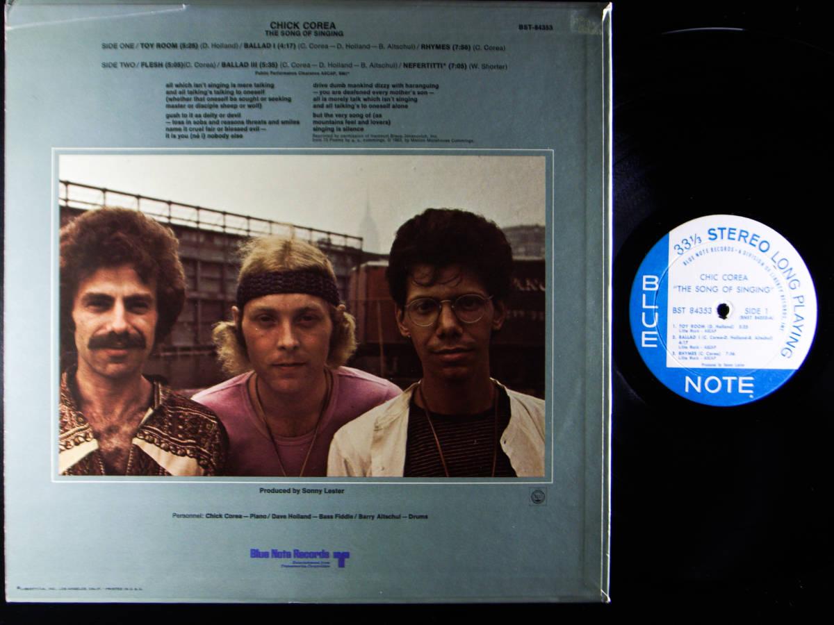 1円開始 1/1 プロモ NM【USオリ】Chick Corea - The Song Of Singing チック・コリア Dave Holland, Barry Altschul LP レコード BST-84353_画像10