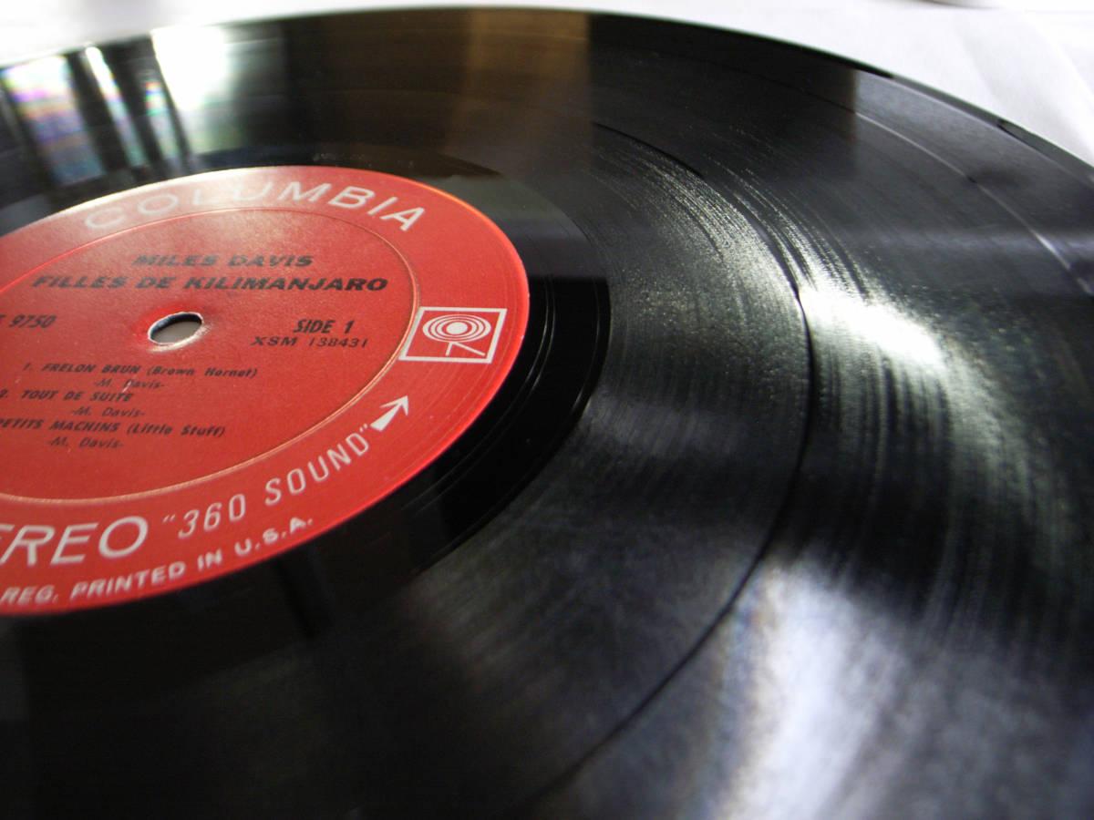 1円開始 1A/1A【USオリ】Miles Davis Filles De Kilimanjaro マイルス・デイビス Chick Corea チック・コリア Herbie Hancock LP レコード_画像4