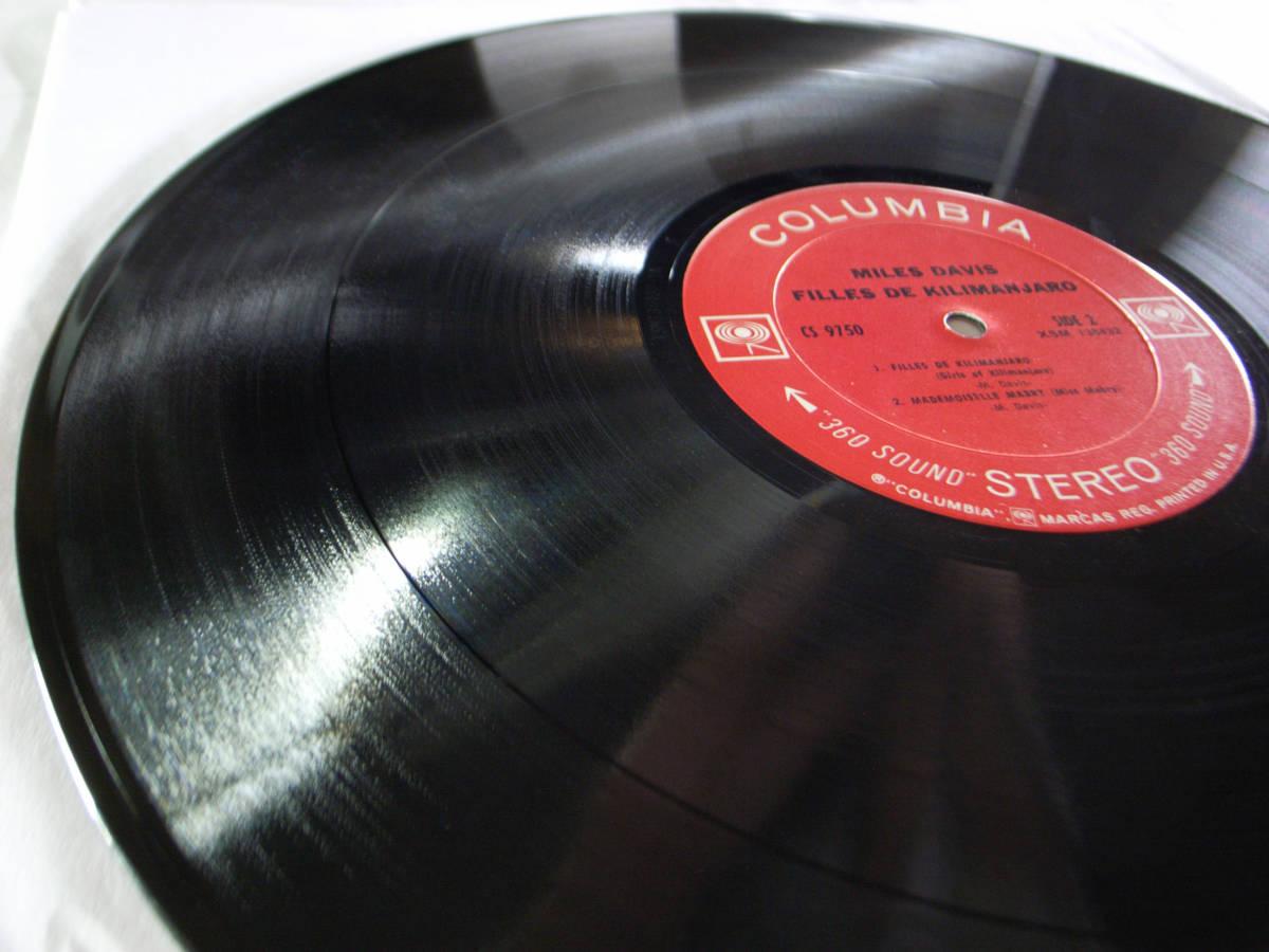 1円開始 1A/1A【USオリ】Miles Davis Filles De Kilimanjaro マイルス・デイビス Chick Corea チック・コリア Herbie Hancock LP レコード_画像7