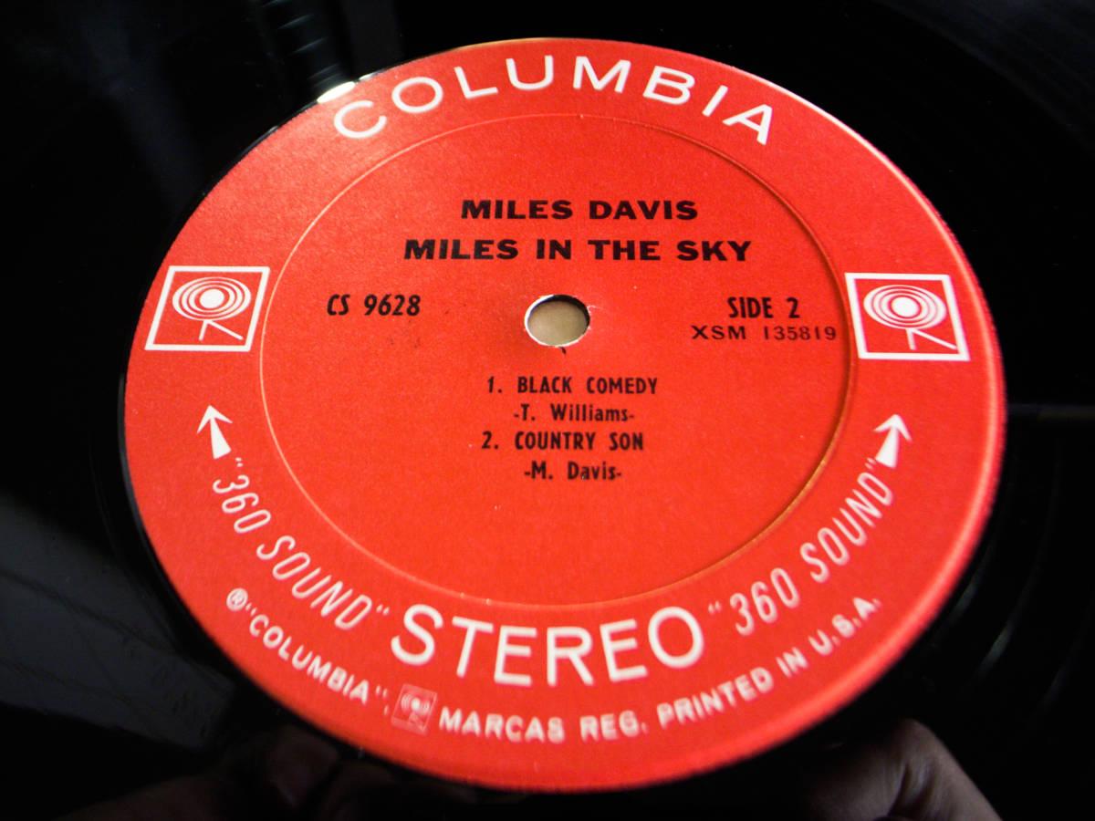 1円開始 NM【USオリ】Miles Davis - Miles In The Sky マイルス・デイビス Herbie Hancock, Wayne Shorter デイヴィス LP レコード CS 9628_画像3