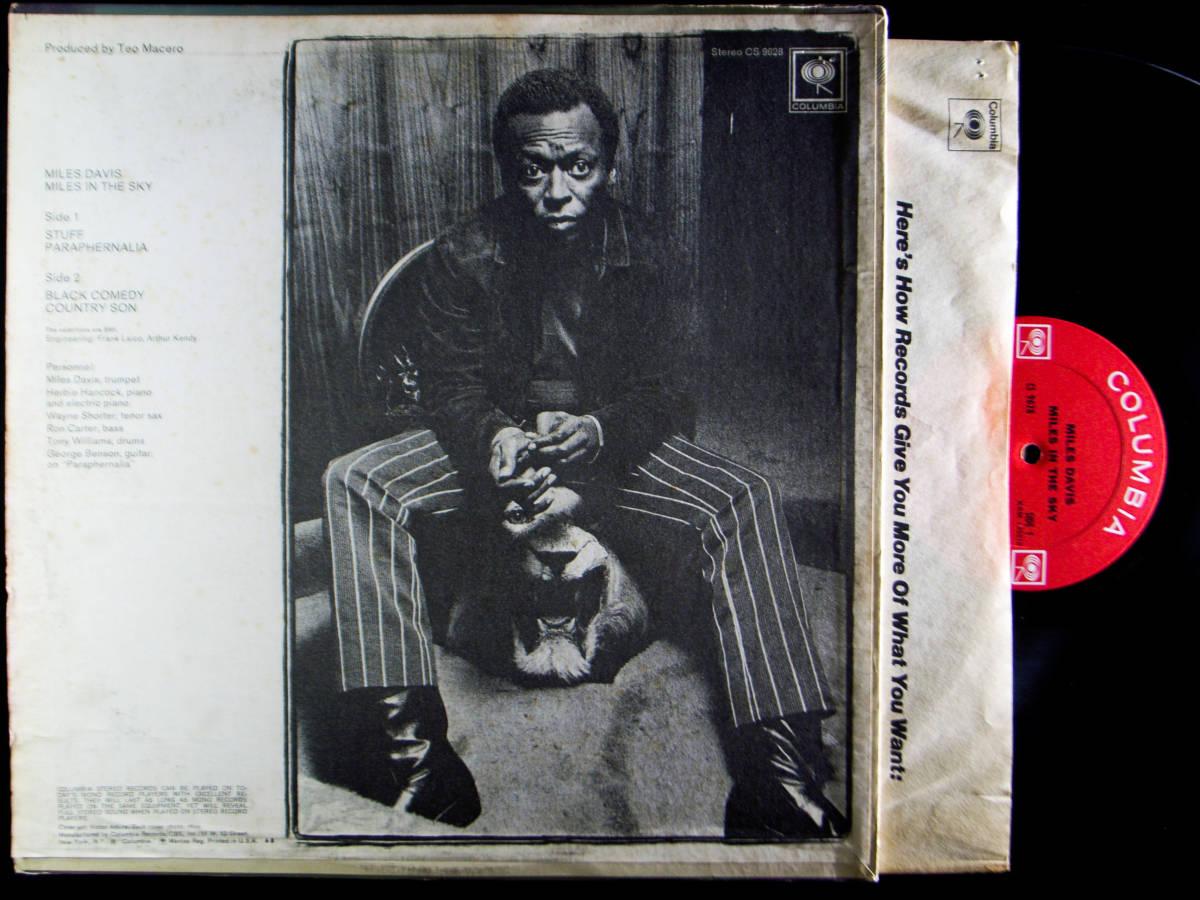 1円開始 NM【USオリ】Miles Davis - Miles In The Sky マイルス・デイビス Herbie Hancock, Wayne Shorter デイヴィス LP レコード CS 9628_画像6