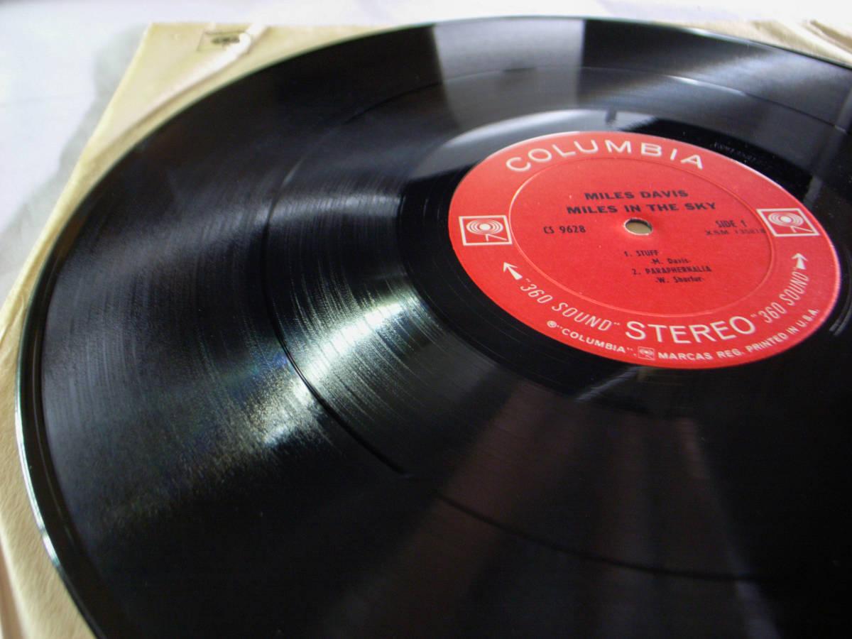 1円開始 NM【USオリ】Miles Davis - Miles In The Sky マイルス・デイビス Herbie Hancock, Wayne Shorter デイヴィス LP レコード CS 9628_画像7