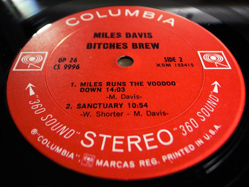 1円開始 NM 2枚組 2eye【USオリ】Miles Davis Bitches Brew マイルス・デイビス Chick Corea チックコリア Joe Zawinul LP レコード GP 26_画像10