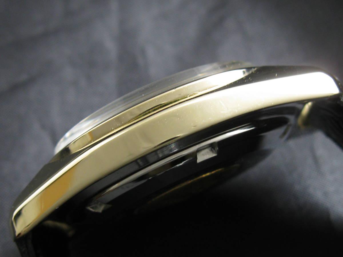 GS グランドセイコー Ref.6146-8000 Cal.6146A カップゴールド デイト ブラック オーバーホール済_画像4