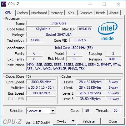 新品 SuperMicro LGA3647 X11DAI-N + 新品 Xeon Platinum 8180 ES 28C56T 1.8GHz TB 3.2GHz *2 計 56C112T 動作確認済み_画像6