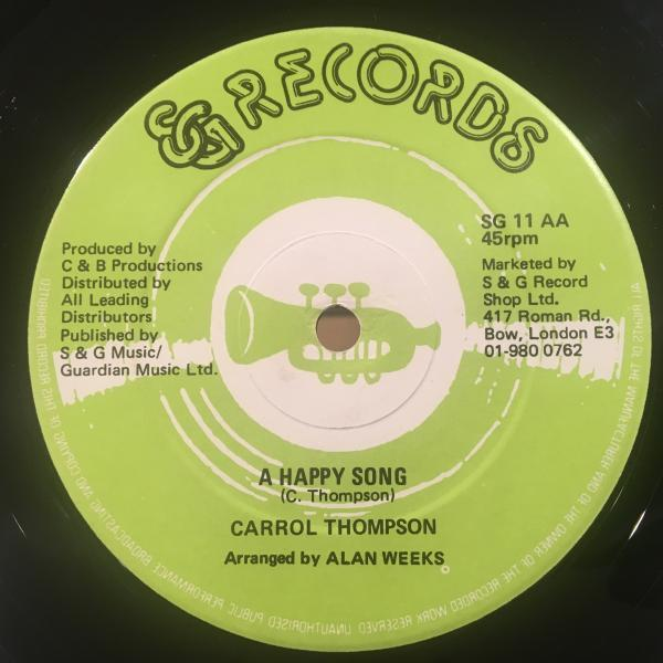 ★Carroll Thompson/A Happy Song★LOVERS ROCK名作!_画像2