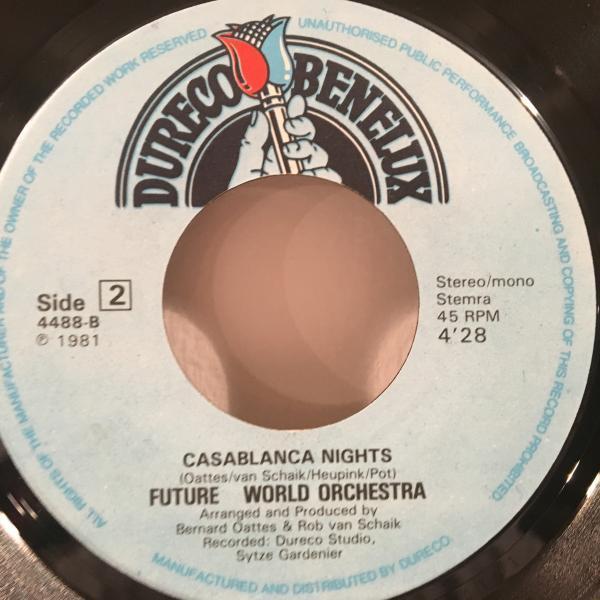 ☆Future World Orchestra/Desire - Casablanca Nights☆EURO SYNTH POP DISCO!7inch 45_画像3