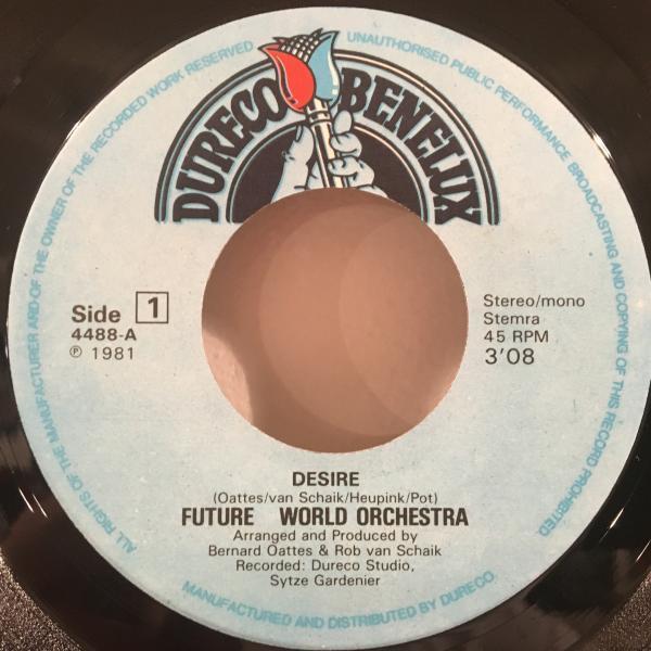 ☆Future World Orchestra/Desire - Casablanca Nights☆EURO SYNTH POP DISCO!7inch 45_画像2