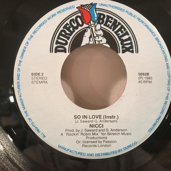 ☆Nicce/So In Love☆MELLOW UK 80s BOOGIE!7inch 45_画像3