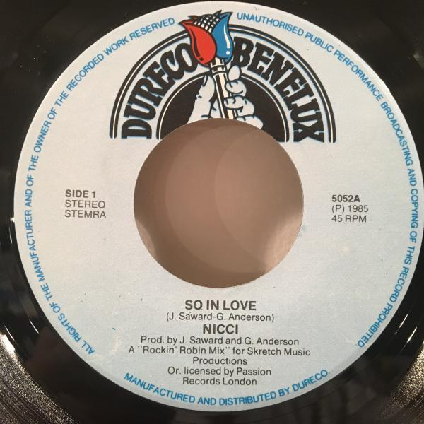 ☆Nicce/So In Love☆MELLOW UK 80s BOOGIE!7inch 45_画像2