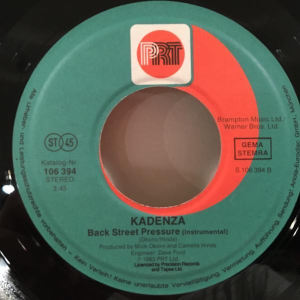 ☆Kadenza/Living In A Back Street☆80s UK MODERN SYNTH BOOGIE!7inch 45_画像3