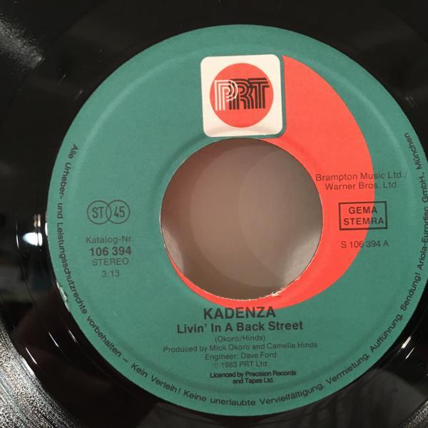 ☆Kadenza/Living In A Back Street☆80s UK MODERN SYNTH BOOGIE!7inch 45_画像2