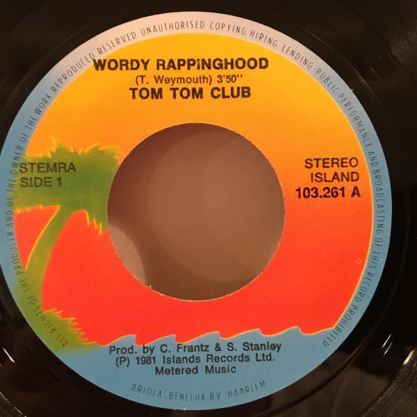 ☆Tom Tom Club/Wordy Rappinghood☆NEW WAVE DISCO!7inch 45_画像2