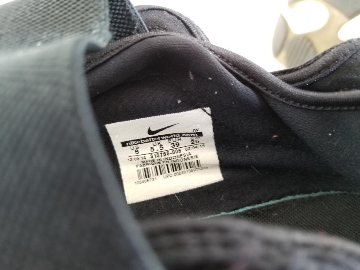 NIKE エア リフト 黒白 25.0cm used // ナイキ スニーカー 足袋 靴 24.0cm ブラック_画像6
