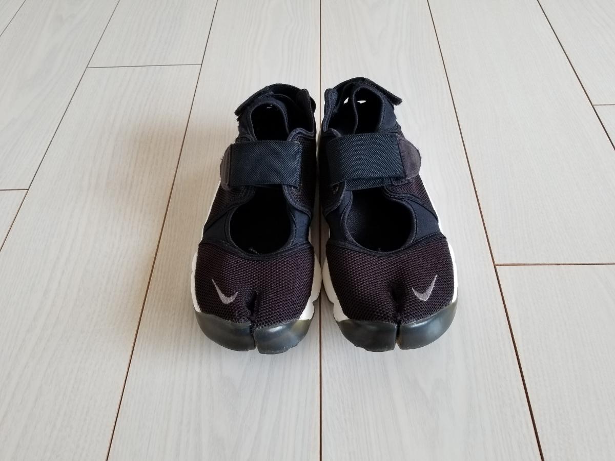 NIKE エア リフト 黒白 25.0cm used // ナイキ スニーカー 足袋 靴 24.0cm ブラック_画像2