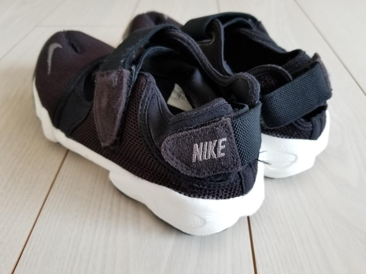 NIKE エア リフト 黒白 25.0cm used // ナイキ スニーカー 足袋 靴 24.0cm ブラック_画像3