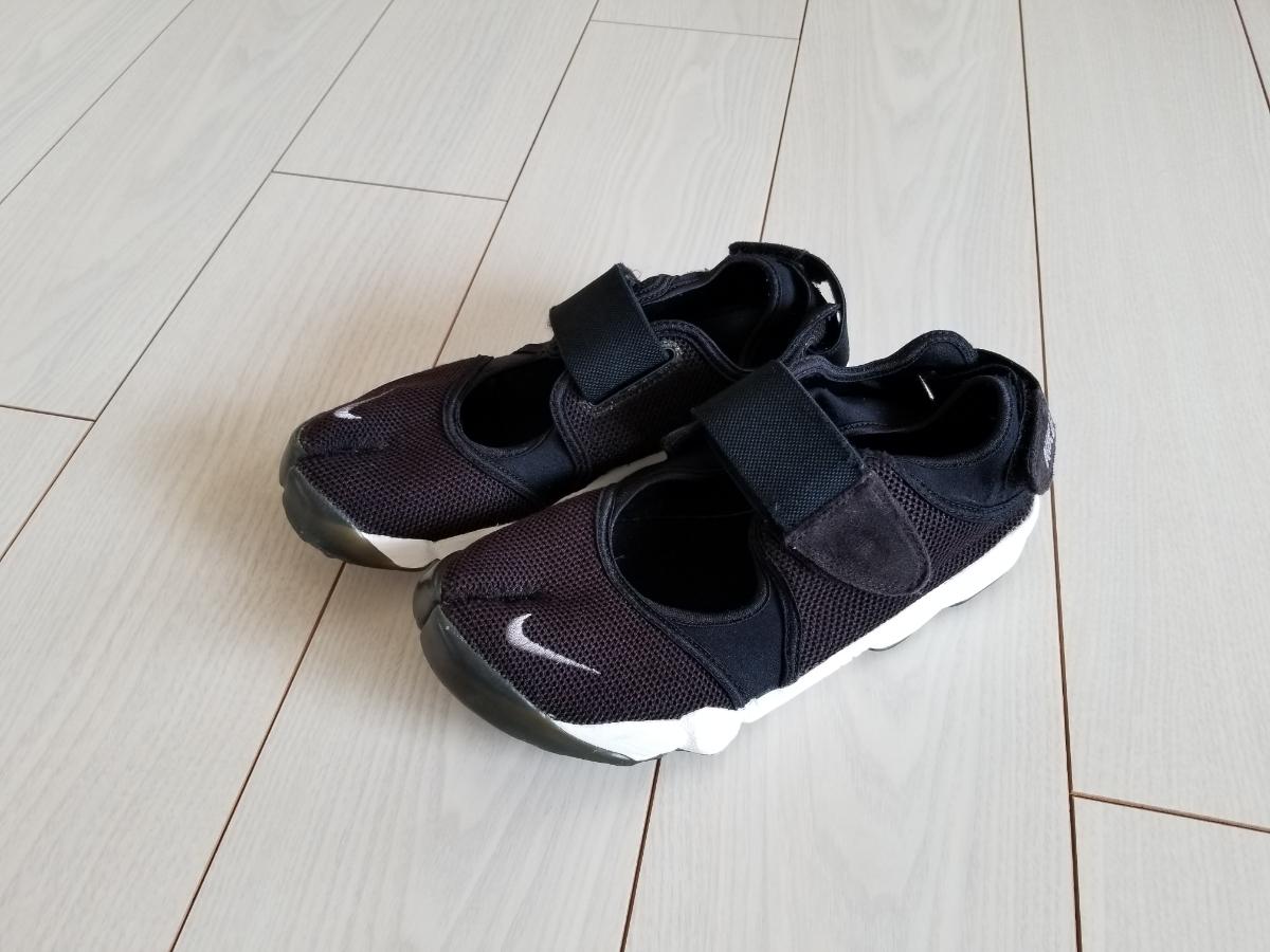 NIKE エア リフト 黒白 25.0cm used // ナイキ スニーカー 足袋 靴 24.0cm ブラック