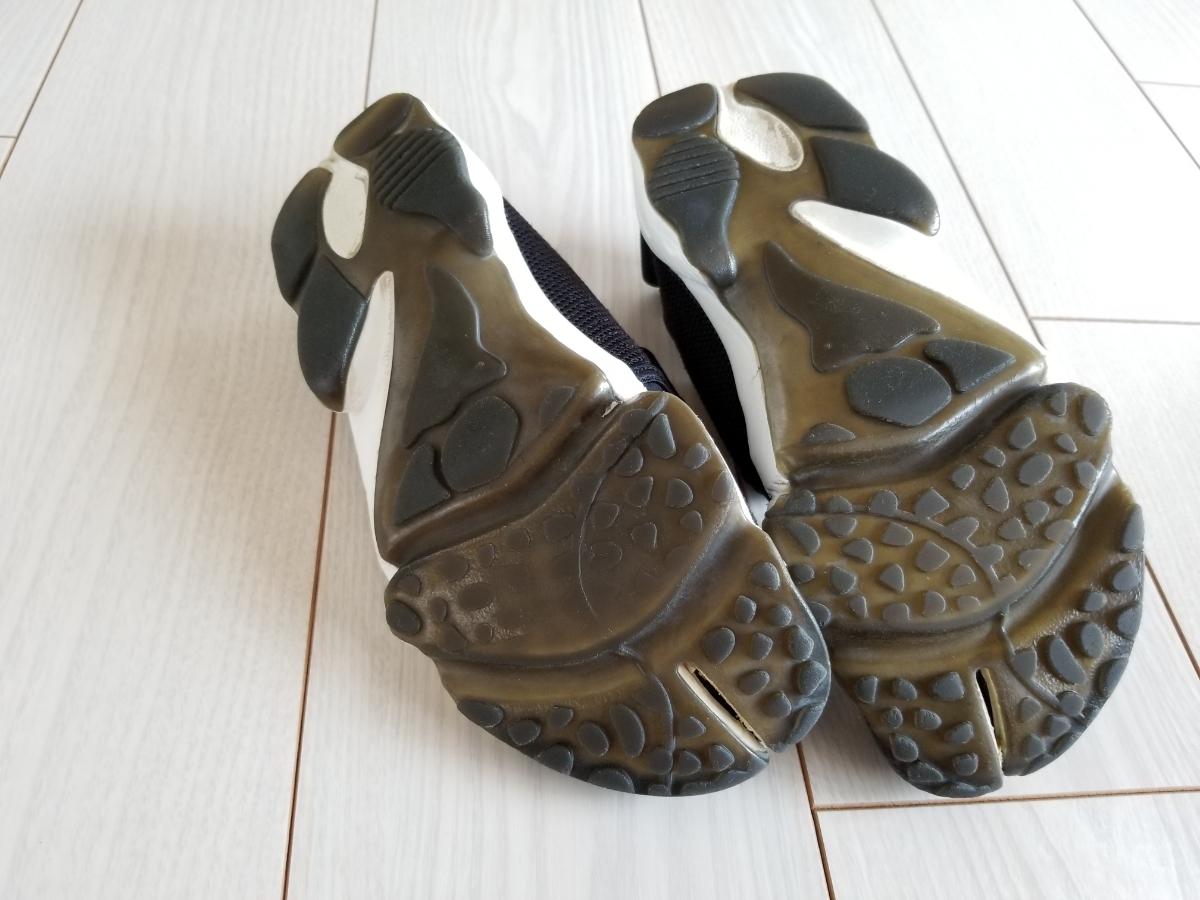 NIKE エア リフト 黒白 25.0cm used // ナイキ スニーカー 足袋 靴 24.0cm ブラック_画像5
