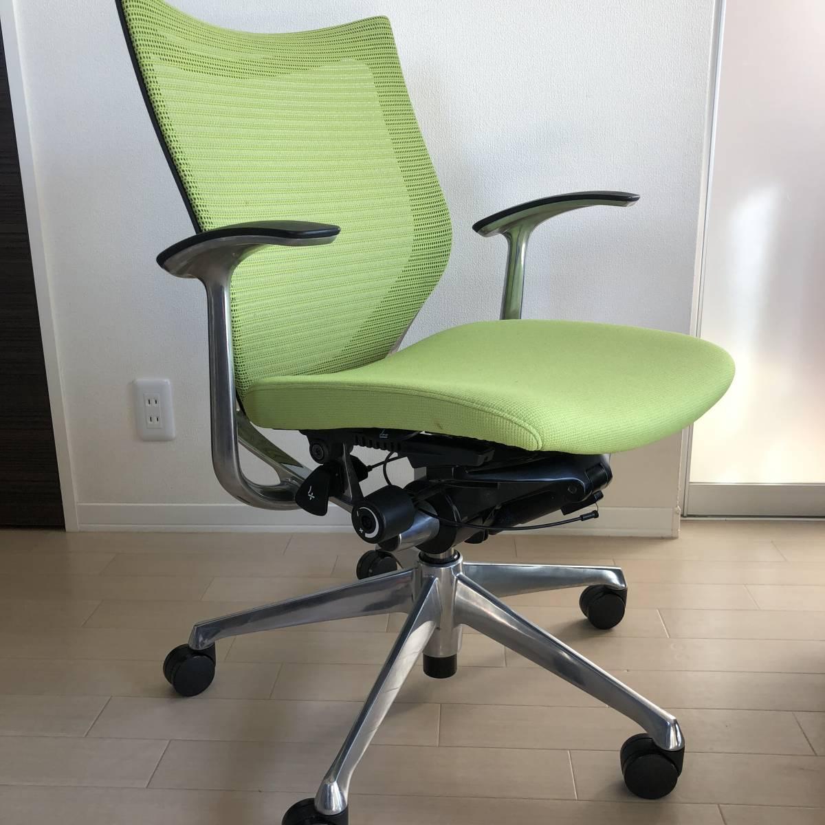 バロンチェア okamura オカムラ オフィスチェア バロン 座メッシ 昇降椅子 CP43BR-FDF6 _画像8