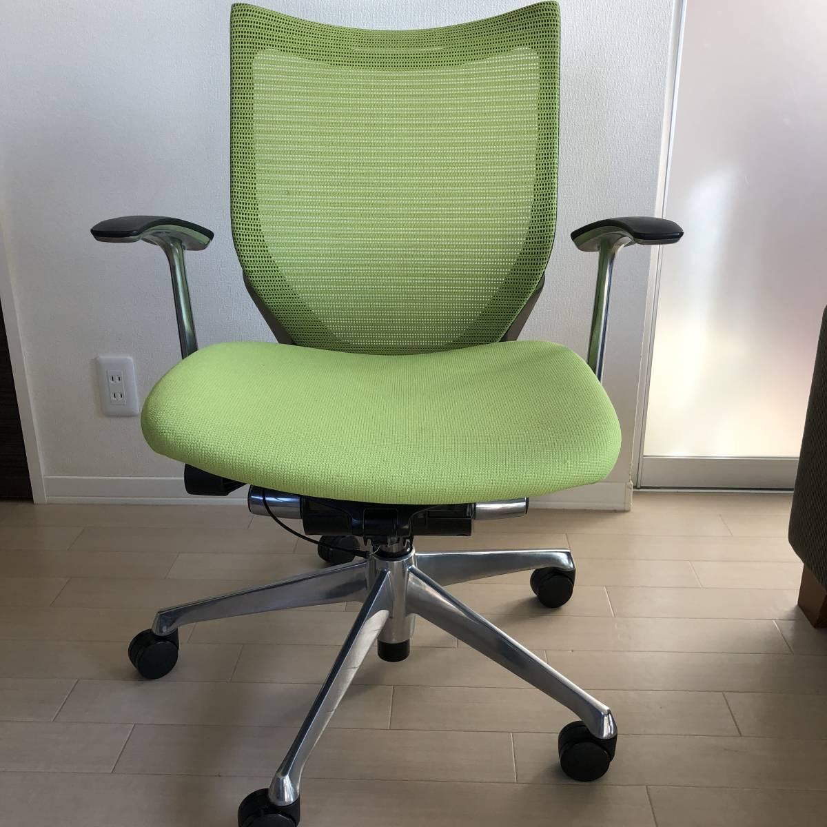 バロンチェア okamura オカムラ オフィスチェア バロン 座メッシ 昇降椅子 CP43BR-FDF6 _画像9