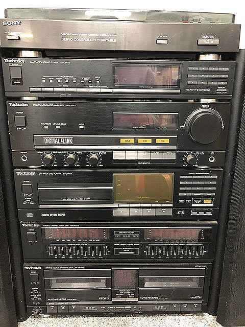 Technics システムコンポ SB-D5000スピーカー/ST-D5000/SU-D5000-K/SL-D5000/SH-D5000/RS-D5000/SONY PS-V700 ジャンク 007892-2 m17y_画像4