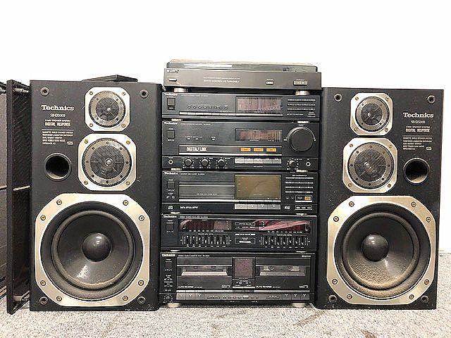 Technics システムコンポ SB-D5000スピーカー/ST-D5000/SU-D5000-K/SL-D5000/SH-D5000/RS-D5000/SONY PS-V700 ジャンク 007892-2 m17y