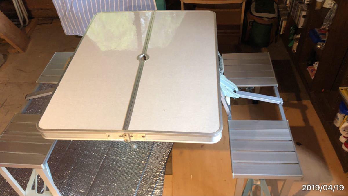 アルミ テーブルチェアセット