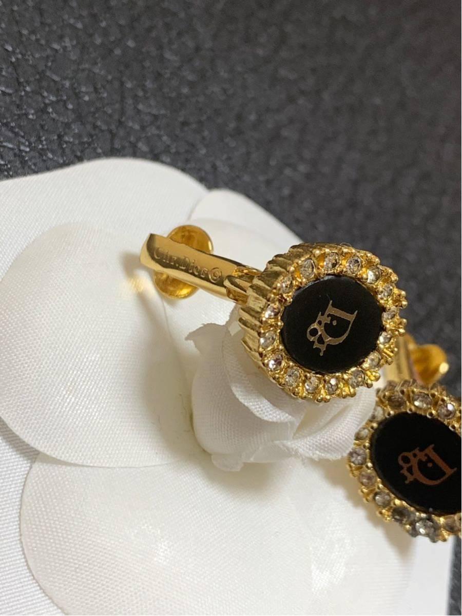 クリスチャンディオール ヴィンテージ イヤリング Dior イヤリング ゴールド ピアス _画像3