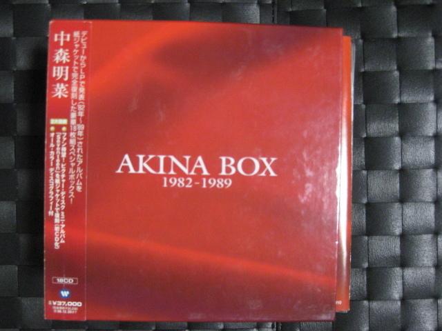 激レア!!中森明菜 CD-BOX「AKINA NAKAMORI 1982-1989~25th Anniversary Special BOX~」_画像1