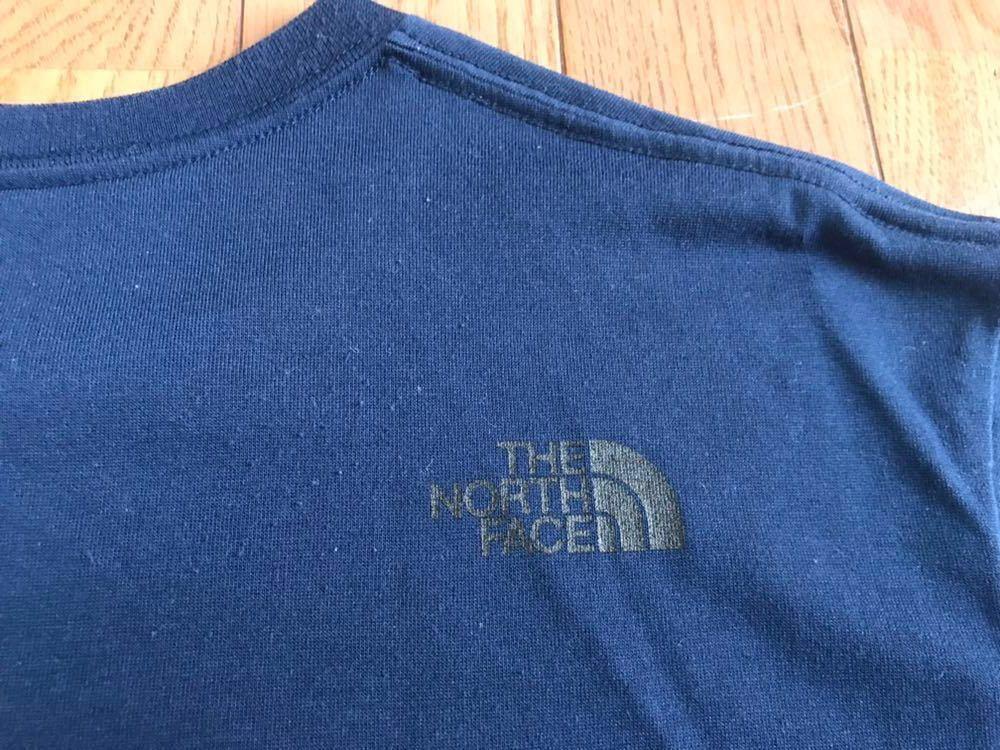 ノースフェイス カモフラージュロゴ Tシャツ メンズサイズM ドレスブルー色 ゴールドウィン国内正規品_画像2