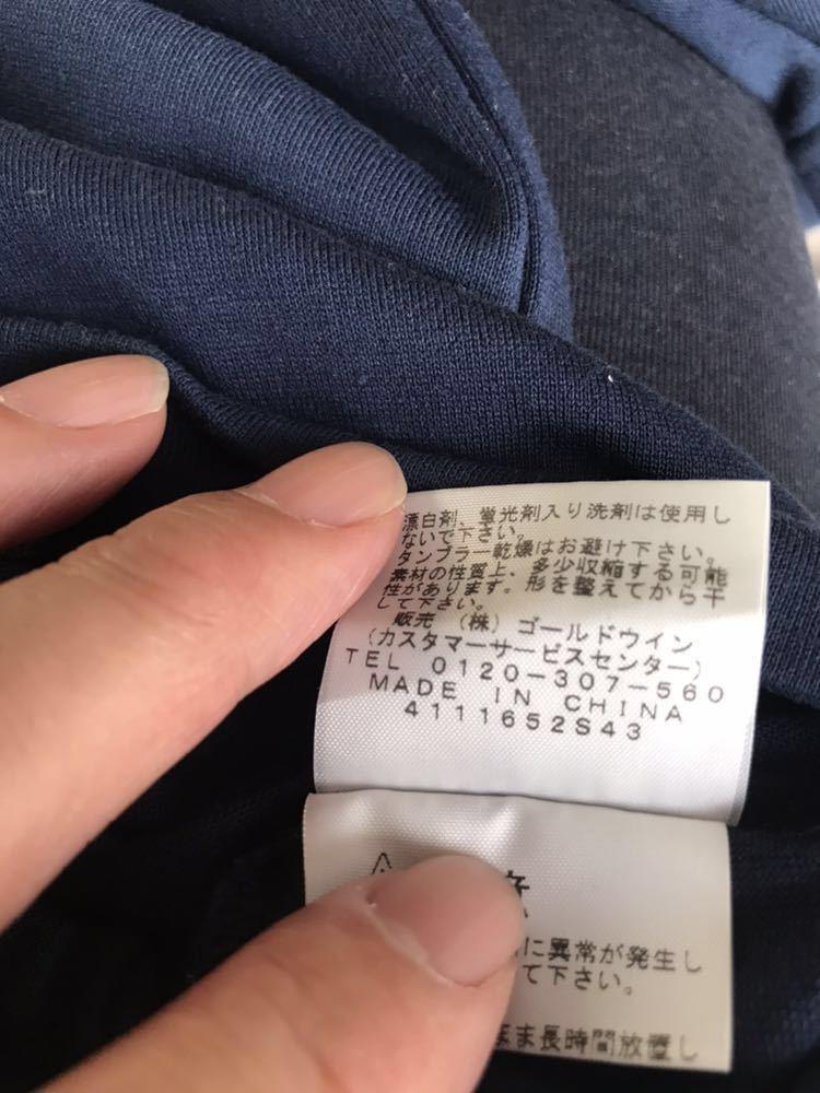 ノースフェイス カモフラージュロゴ Tシャツ メンズサイズM ドレスブルー色 ゴールドウィン国内正規品_画像6