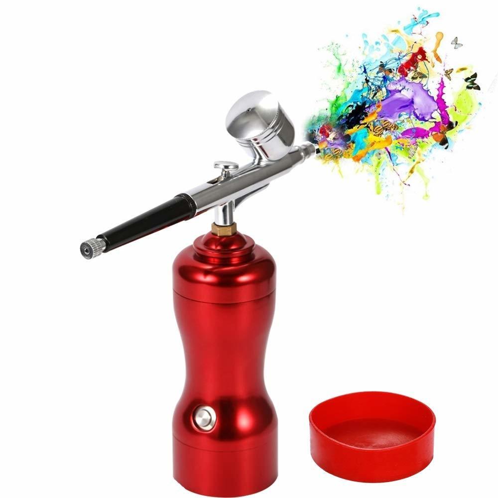 【新品未使用】エアブラシ 充電式 軽量 ミニサイズ USB充電 小型 エアブラシセット スプレー ポンプペン DIY アート創作 絵画 模型製作用
