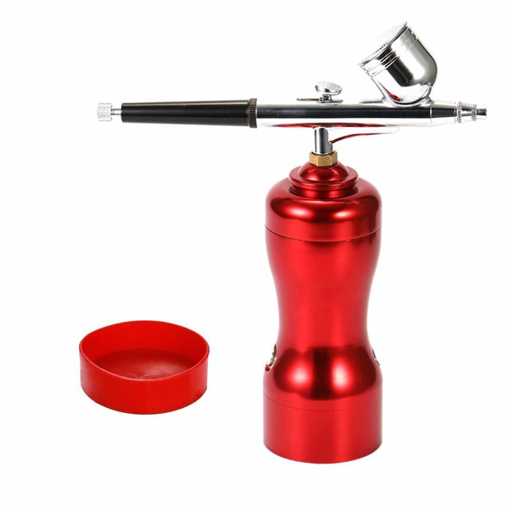 【新品未使用】エアブラシ 充電式 軽量 ミニサイズ USB充電 小型 エアブラシセット スプレー ポンプペン DIY アート創作 絵画 模型製作用_画像3