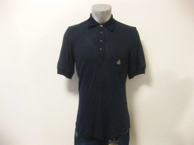 初期 Vivienne Westwood MAN ヴィヴィアンウエストウッドマン リネン混 麻 変形デザイン 半袖 ポロシャツ S 伊製 イタリア製 MADE IN ITALY_画像10