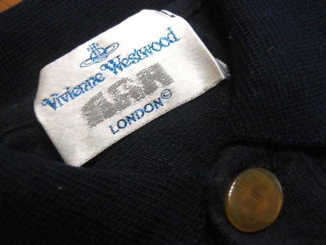 初期 Vivienne Westwood MAN ヴィヴィアンウエストウッドマン リネン混 麻 変形デザイン 半袖 ポロシャツ S 伊製 イタリア製 MADE IN ITALY_画像7