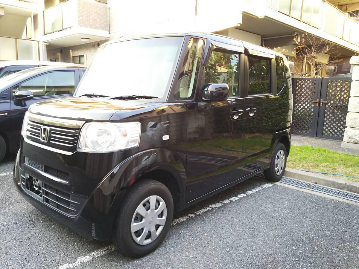 H24 ホンダ N BOX G 4WD 車検2年込 車検33年4月まで ブラックパール_画像4