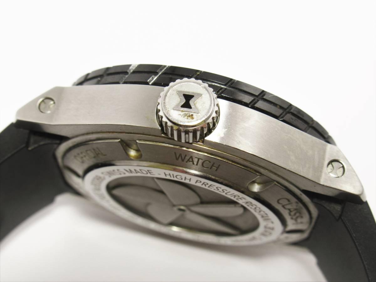 W6622 エドックス 80088-3-NIN クロノオフショア1 プロフェッショナル セラミックベゼル メンズ デイト ブラック 純正ブレス 自動巻き 時計