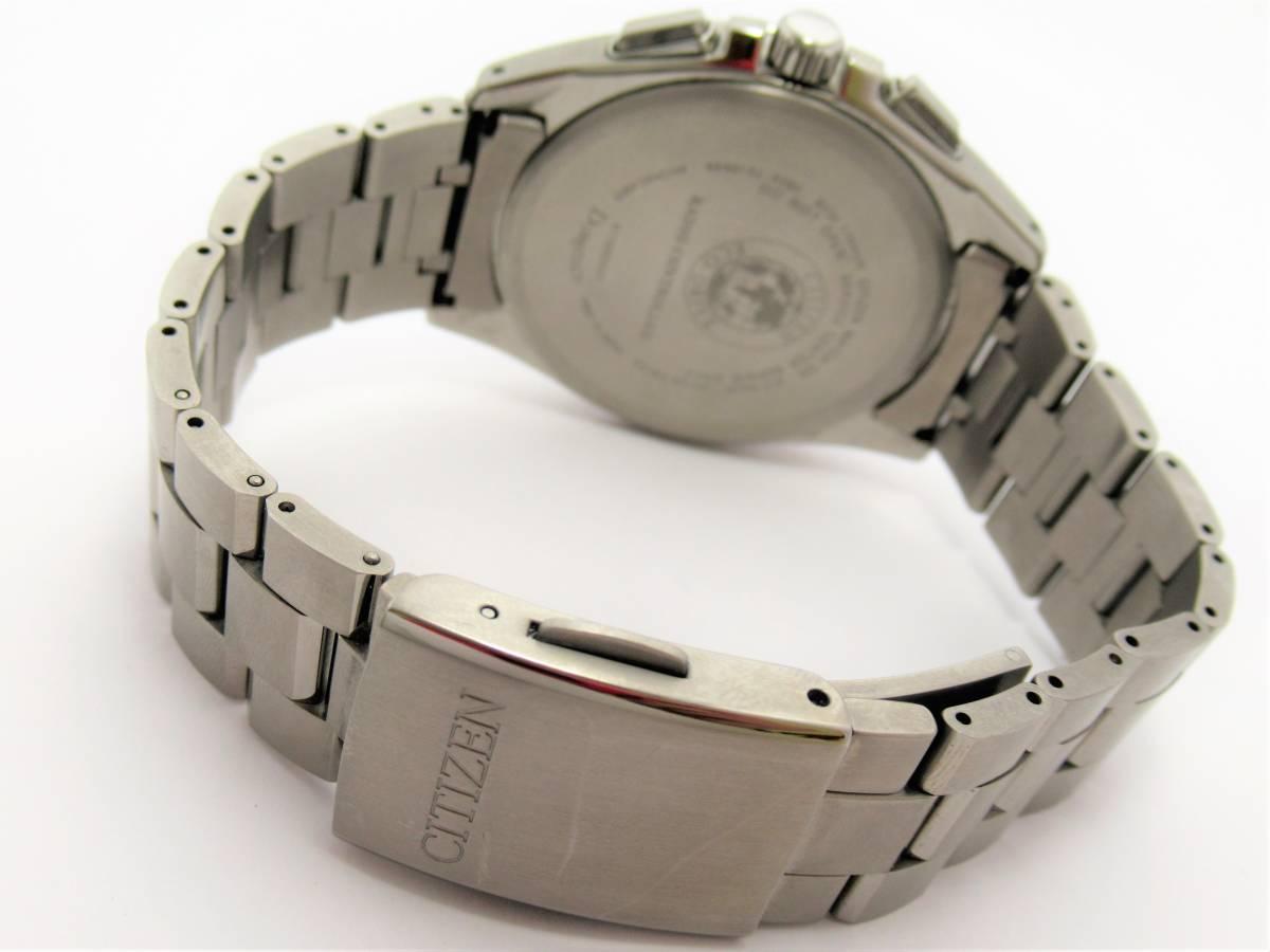 W6666 シチズン H804-T018696 アテッサ チタン メンズ ソーラー 時計 箱 保証書付き 美品_画像5