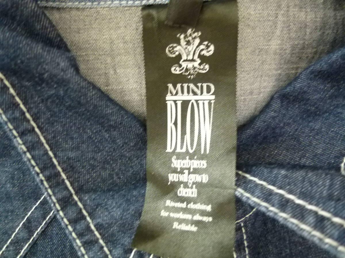 ☆[未使用]メンズビギ MEN'S BIGI MIND BLOW デニムシャツ(3号)濃紺
